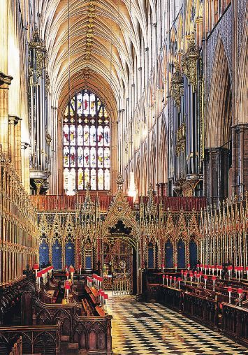 Westminister Abbey, London.  The exact spot where he asked.  (of course, I said yes).