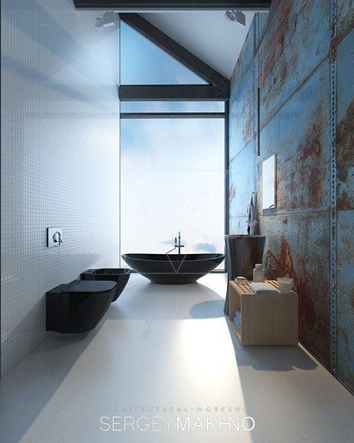 23 best Industrial Zen images on Pinterest   Arquitetura, Bathroom ...
