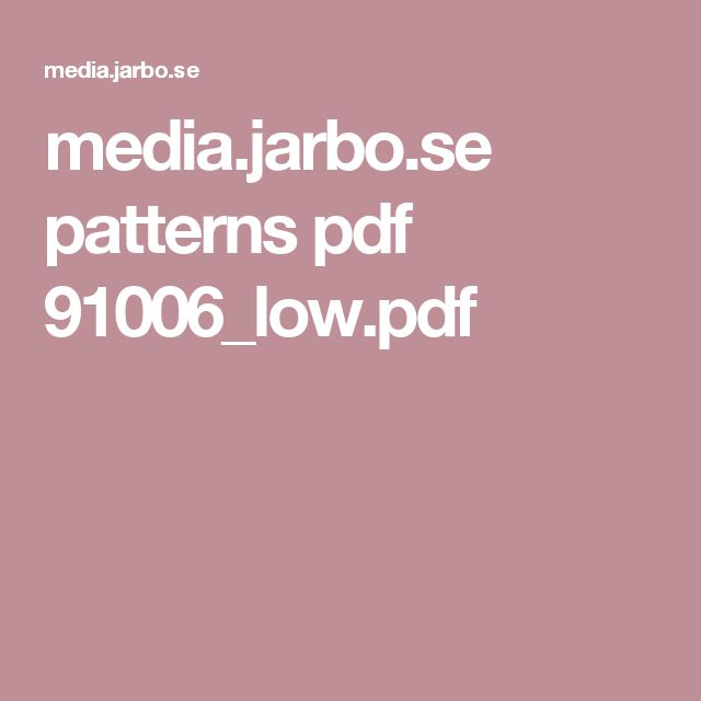 media.jarbo.se patterns pdf 91006_low.pdf