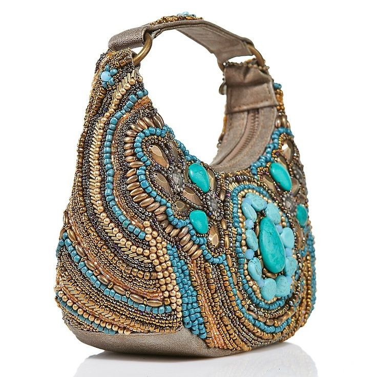 boho purses | Mary Frances, Mantra Beaded Hobo ~~ | Boho bags