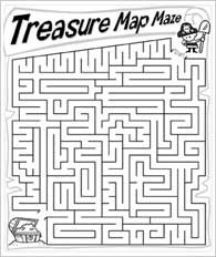 treasure map and more pirate puzzle sheets.  Links you to funschool.kaboose... where there are some online pirate games too