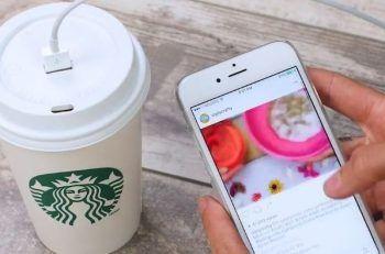 Convierte tu vaso de Starbucks en un cargador portátil [DIY]