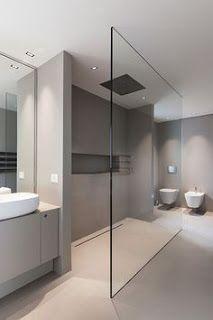 docce moderne (walk in) (con immagini) Bagno minimalista