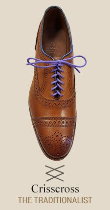Crisscross  Learn How to Lace Your Dress Shoes with ALLEN EDMONDS  AD -   An illustrated how-to guide to our favorite lace upsTrendy, stylish, sophisticated or cool, there's more than one way to lace a shoe. Find a pattern that fits your personality