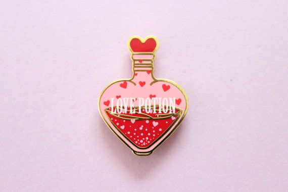 Love Potion Enamel Pin by lovelylolitaofficial on Etsy