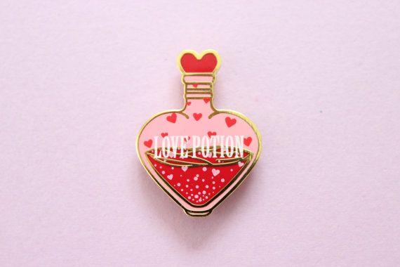 Love Potion Enamel Pin by lovelylolitaofficial on Etsy
