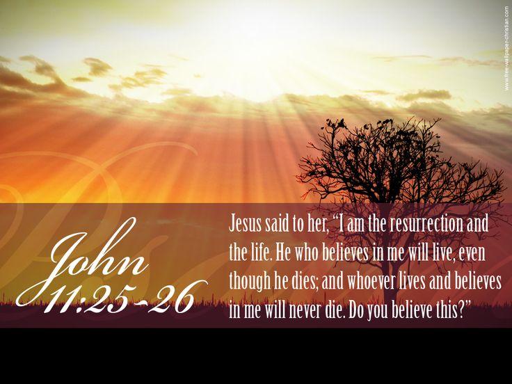 {John 11:25-26} - {Jean 11:25-26}
