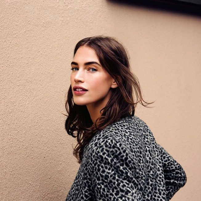 Crushing on model Crista Cober's brows & leopard jacket #beauty #style #fashion