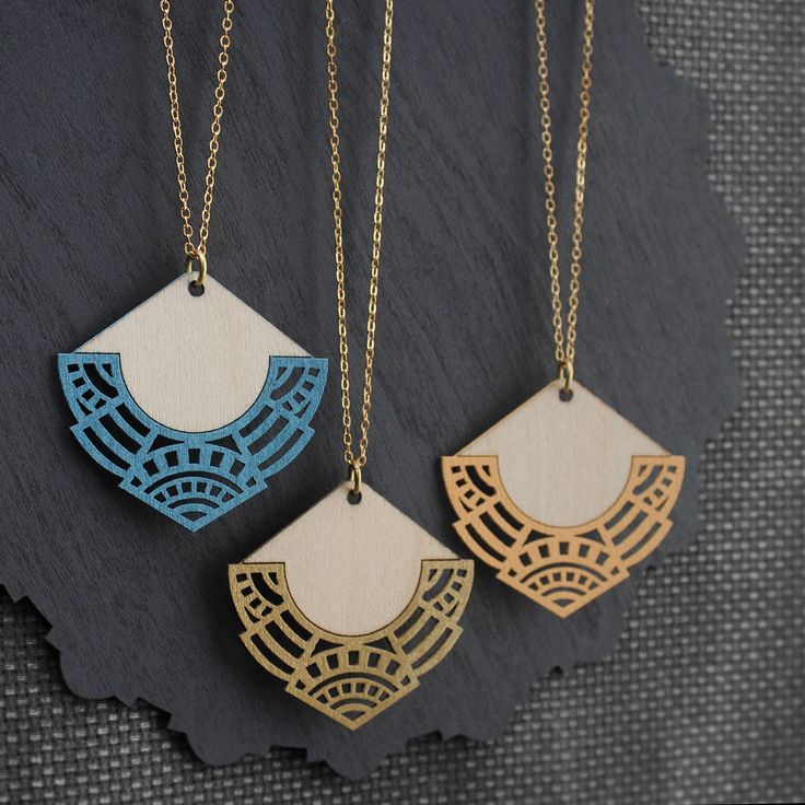 Ethically produced and eco-friendly Birch necklace featuring a modern, geometric design.Materials: Sustainably harvested Birch cut using green power, Raw Brass (Lead and Nickel free).Length...