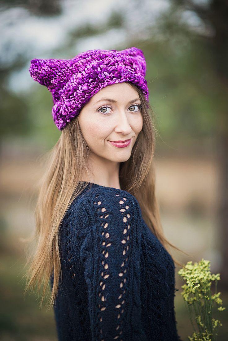 Mejores 98 imágenes de Knit Pussy Hat Patterns en Pinterest ...