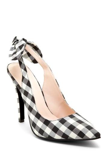 Gingham Bow Heels