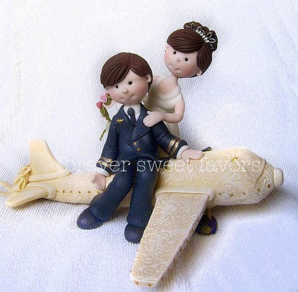 Airplane Pilot Precious Moments Wedding Cake Topper
