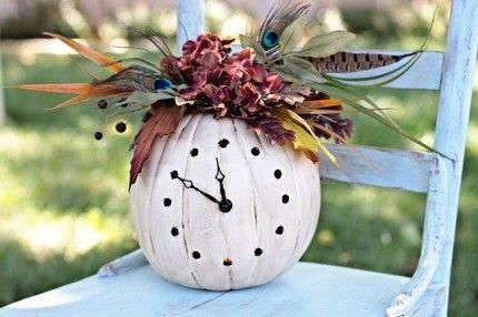 Vase - watch from pumpkin with his own hands / Ваза для цветов - часы из тыквы своими руками