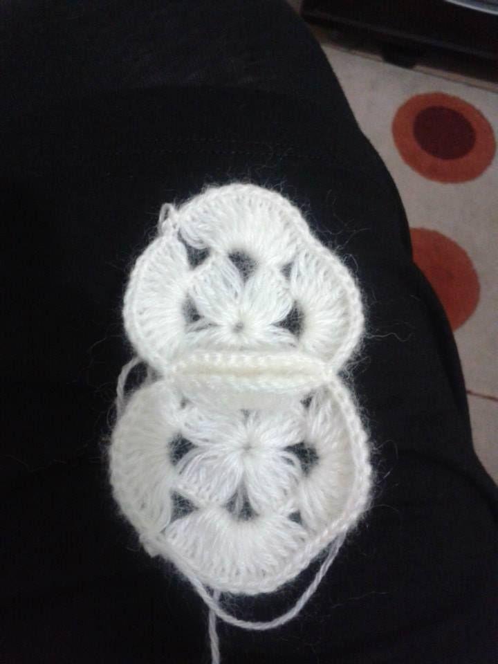 incili bebek battaniyesi (19) şal motifi