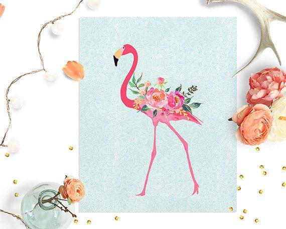 floral-flamingo-printable-wall-art