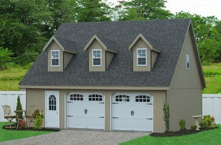 Buy Prefab Car Garages in NC. One, Two, Three and Four Car Garages from Sheds Unlimited. Buy detached garages direct from the Amish Garage Builder.