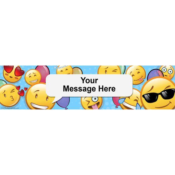 Emoji Personalized Banner (Each)