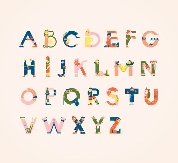 Typography meets illustration. Letters introduced to characters. Fun. A personal…