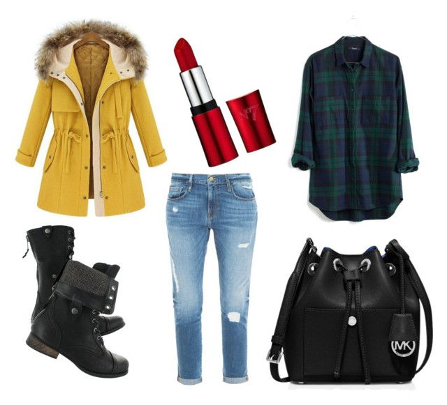 """boyfriend"" by fashionandmore-blog on Polyvore featuring moda, Frame Denim, Madewell i MICHAEL Michael Kors"