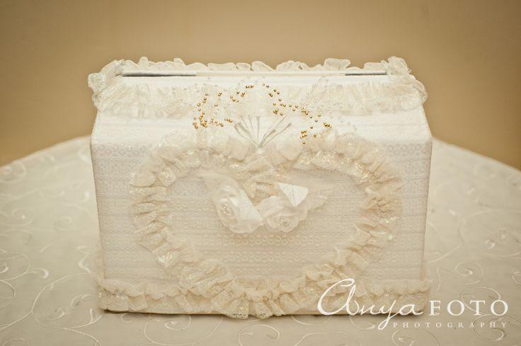 Wedding Gift Table anyafoto.com, #wedding, wedding gift box, wedding card box, white lace wedding card box, frilly wedding card box, wedding card box ideas, wedding card box designs