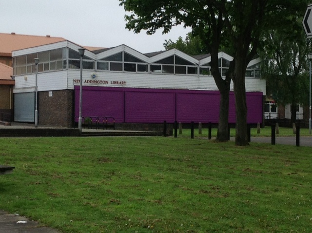 The original New Addington Library - closed forever, end of April 2013, taken on the day of opening of the co-located library facility in what was the CALAT centre