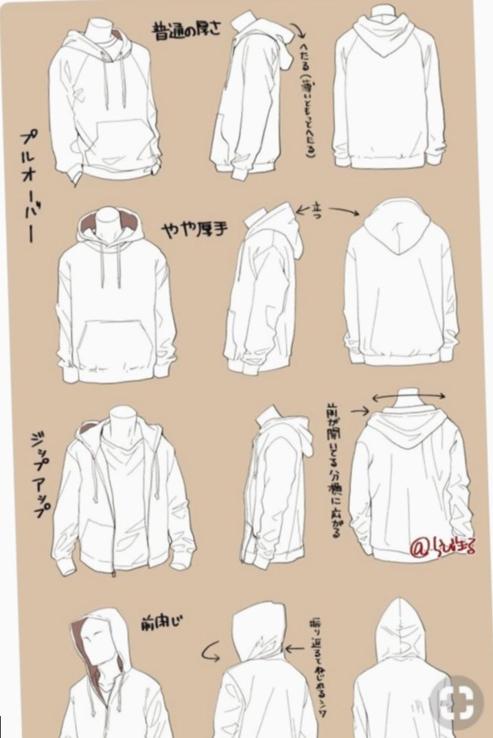 Anime Outfits Hoodie Drawing Mangacosplay Mha Myheroacademia Drawing Clothes Art Reference Poses Art Clothes