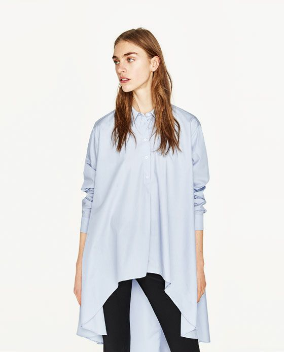 Image 2 of ASYMMETRIC SHIRT from Zara