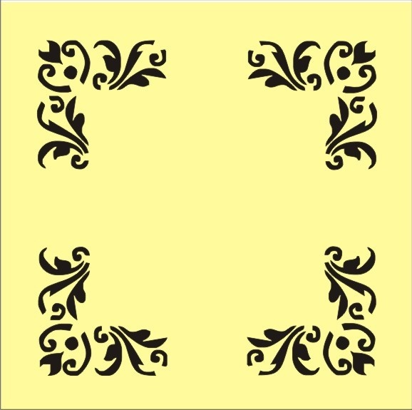 21 best decorative corners images on Pinterest | Stencils, Stencil ...