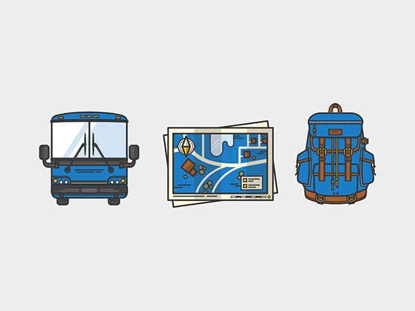 Busbud Illustration Series by Meg Robichaud