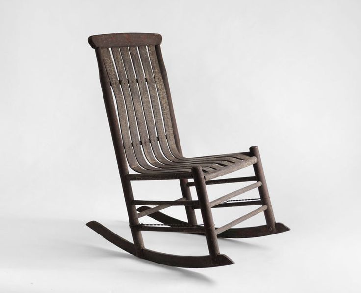 antique early century rocker rocking chair mid century modern wood rustic via. Black Bedroom Furniture Sets. Home Design Ideas