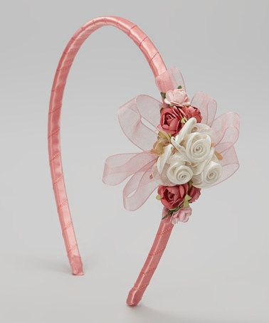Look what I found on #zulily! Rose Flower & Ribbon Headband by Kid's Dream #zulilyfinds