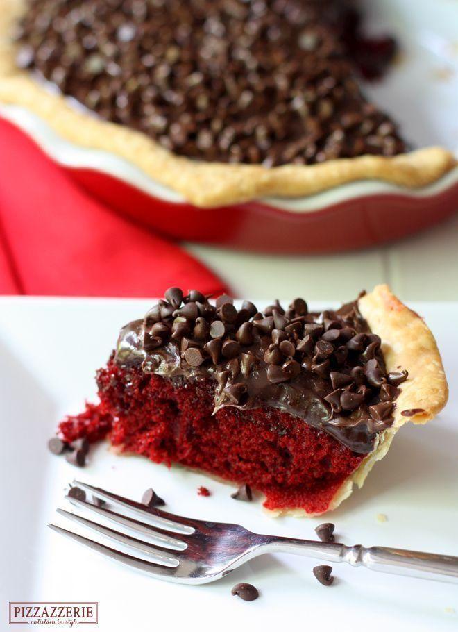 Red Velvet Fudge Pie! OH so delicious!: