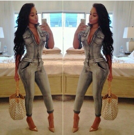 THAT all in one fitted jumpsuit | Cute outfits ect.... | Pinterest ...