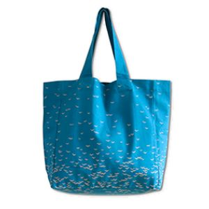 Jurianne Matter Large 'Sky' Tote Bag In Cobalt Blue: The Sky Bag Large by dutch designer Jurianne Matter is a convenient big tote bag made from durable organic cotton. It's the perfect large 'everything bag'! Take it with you when you go shopping downtown, stop at the supermarket for groceries or hit the beach with a towel and your favourite book. Essentials like your wallet and mobile phone can be stored away safely and securely in its deep inside pocket. One of the best things about this…