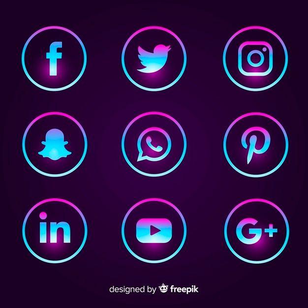 Download Gratis Gradient Social Media Logo Pakket Social Media Logos Social Media Icons Vector Social Media Icons