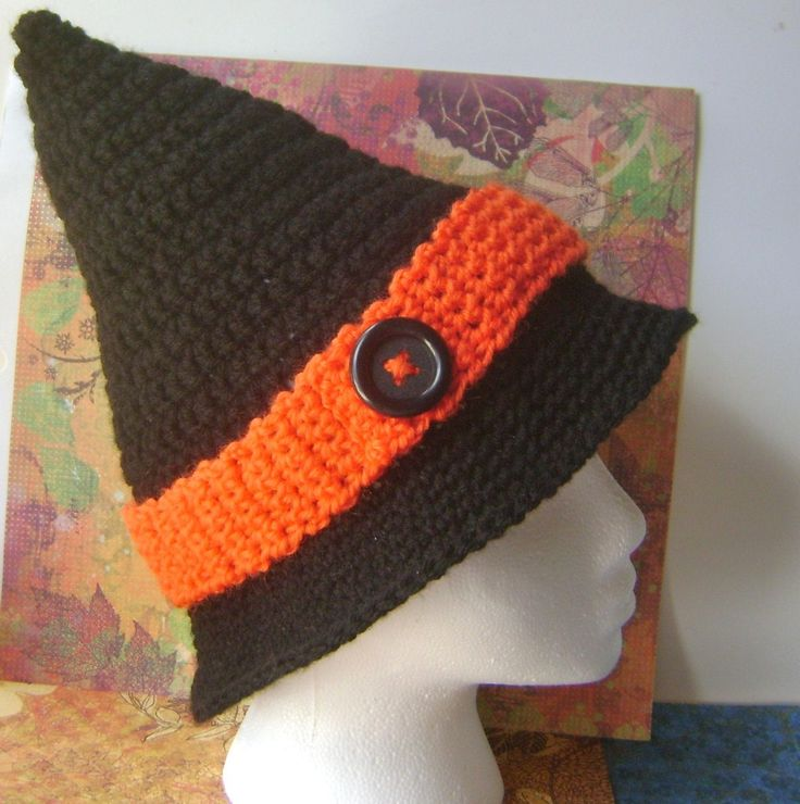 Free Crochet Baby Witch Hat Pattern : Crochet Witch Hat via Etsy. hat * full * of * stars ...