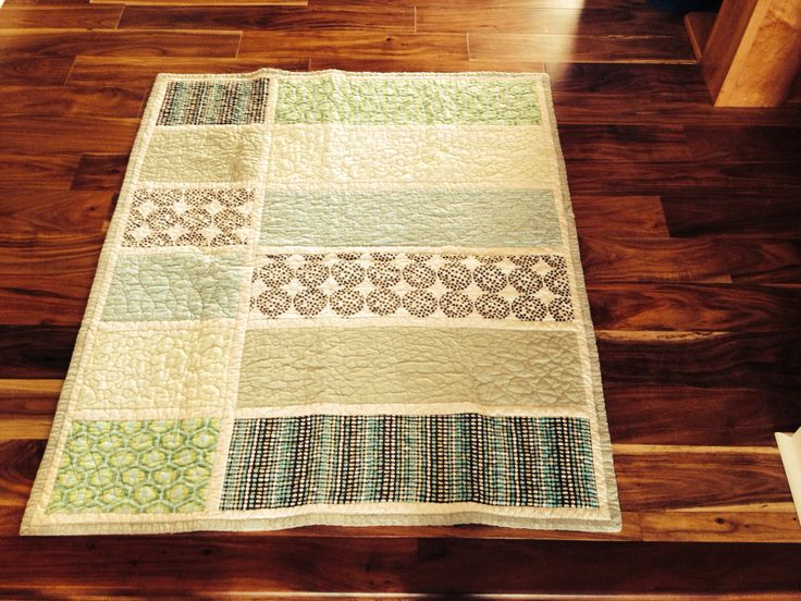 Baby boy quilt finished! Pic by new owner, who was born Feb 14. Ok, so his mom actually took the picture.