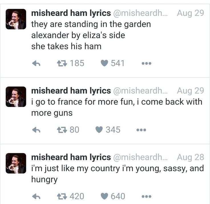 ##misheardhamlyrics #hamiton Hamilton Misheard Lyrics