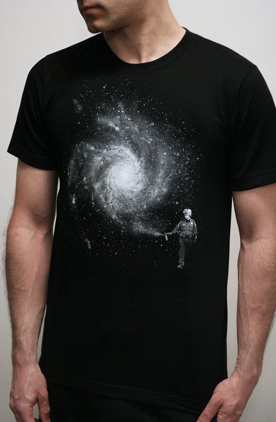 Galaxy Cop  Mens t shirt  Galaxy t shirt  Space by EngramClothing