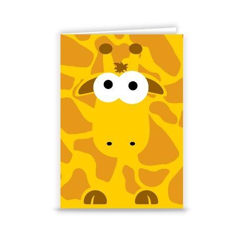 Gerald the Giraffe Greeting Card by minnimals at zippi.co.uk