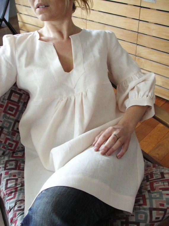 This is close to Butterick 5555-adorable linen tunic. modify Schoolhouse tunic pattern?