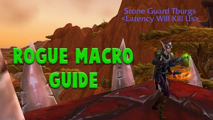Legion Rogue Macro Guide #worldofwarcraft #blizzard #Hearthstone #wow #Warcraft #BlizzardCS #gaming