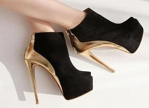 these black and gold ankle boot heels are amazing!!!!
