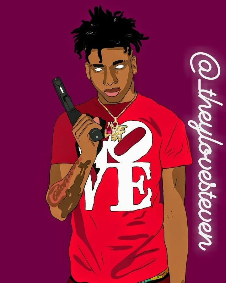 Nle Choppa Art Theylovesteven Fictional Characters Pics Character