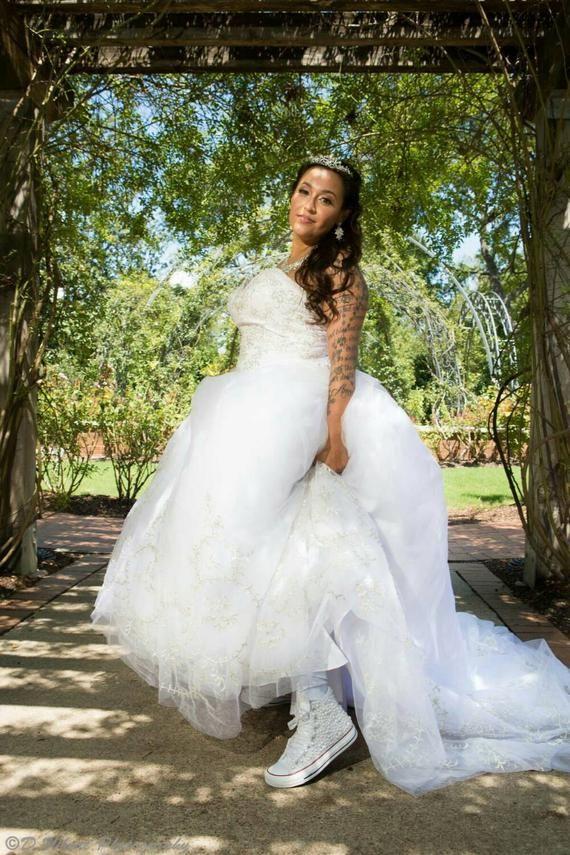 Wedding Converse Bridal Sneakers Bling Pearls Custom Converse