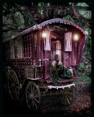 Gypsy Caravan.  I would to convert this to my sewing room...k