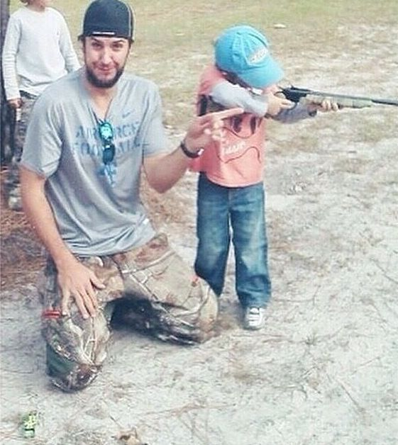 Luke Bryan and his son.
