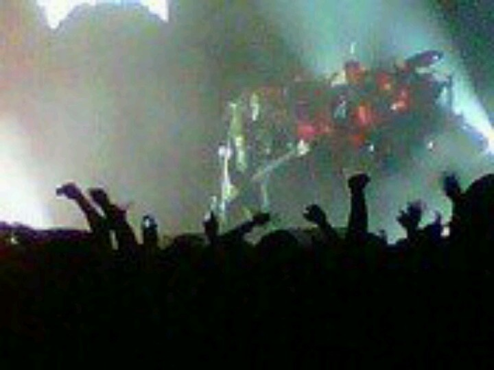 Slayer playing at American Carnage tour 2010 with a sea of people