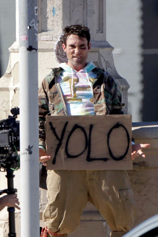 damn it doesnt matter what you are wearing.   Adam Levine And The Lonely Island Seen Filming A New Music Video