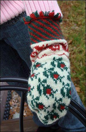 Garn Boet - The Yarn Nest: The Rosebud mittens - pattern and descriptions